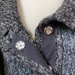 Prana Sweaters - Prana Angelica Charcoal Duster Cardigan Sweater